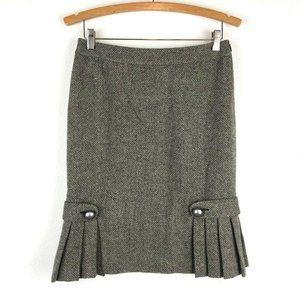 Banana Republic Wool-Blend Tweed Pencil Skirt